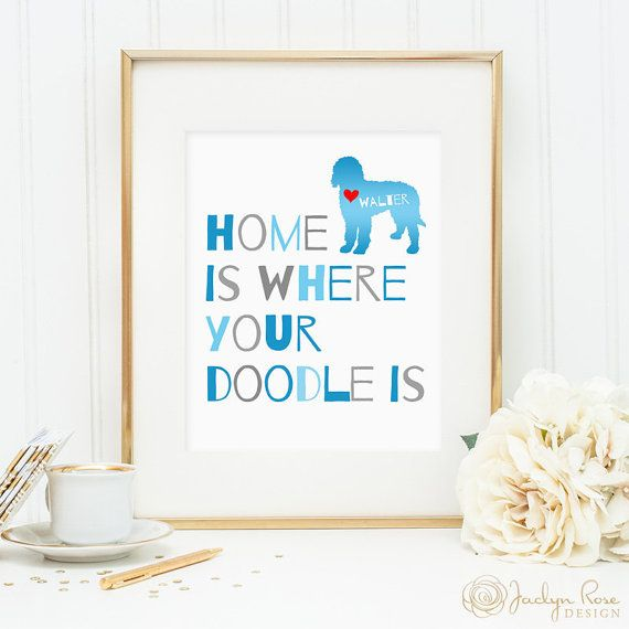 Goldendoodle art, Labradoodle dog print, personalized dog art print for your doodle, Golden doodle art, gift for dog owners, wall art