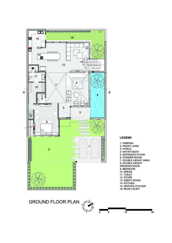 Gallery Of Residence 913 Charged Voids 20 Residential Architecture Plan Architectural Floor Plans Ground Floor Plan