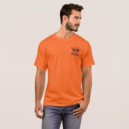 King Crown Vintage Construction Orange T shirt - construction business diy customize personalize