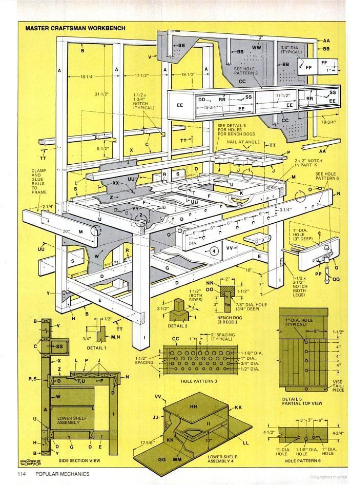 Popular Mechanics Workbench Plans - WoodWorking Projects & Plans