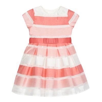 J by Jasper Conran Girls' pink block striped print dress   Debenhams