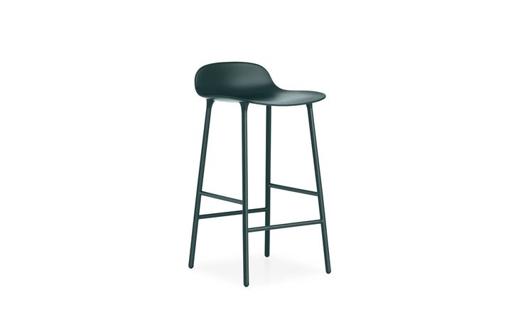 Form Barstool | Molded plastic shell chair with steel legs
