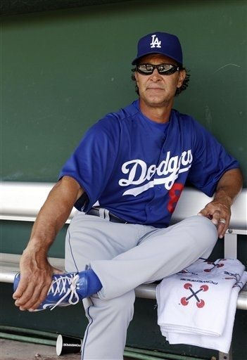 So tempted to draw a big ol' mustache on this pic of Los Angeles Dodgers manager Don Mattingly