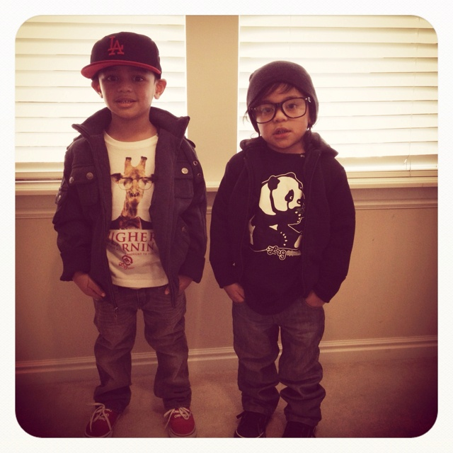 My boys will dress like this.