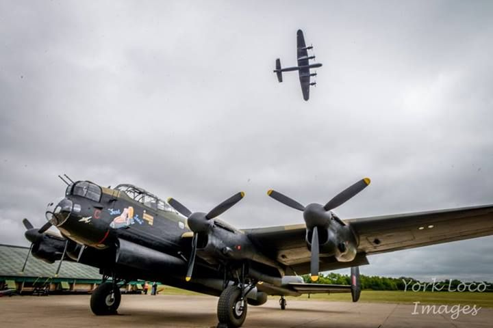 Canada is being very good to the UK recently. They are now sending over the worlds only other airworthy Lancaster bomber in August 2014. This could mean we have amzaing scenes like this not just with two Lancasters but three! Just Jane at the East Kirby in Lincolnshire on a long road back to airworthiness looks on as the BBMF Lancaster displays overhead. Imagine this shot with three Lancasters and it sends shivers down your spine  — at East Kirkby Aviation Heritage Centre.