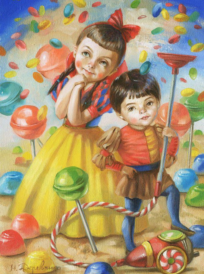 Картина Candy mood Натальи Деревянко - художница Наталья Деревянко
