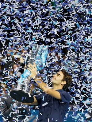 Federer Wins Sixth ATP World Tour Finals Title. Federer beat Jo-Wilfred Tsonga a second time this week with a final score 6-3 6-7(6) 6-3 to win the title.