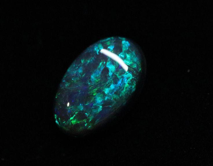 Black Opal - 1.12ct Lightning Ridge Opal, Australian Opal, Loose Opal, Single Opal, Oval Shape by MsOpalWorld on Etsy
