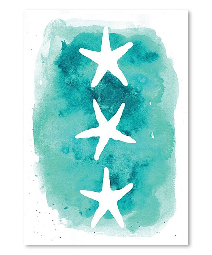 This Watercolor Starfish Wall Art by Americanflat is perfect! #zulilyfinds