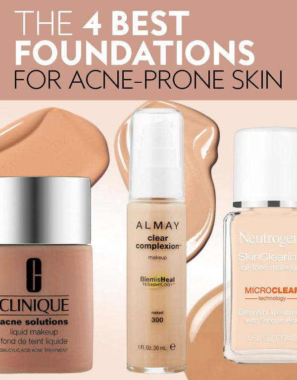 Have oily, acne-prone skin? Dermatologists recommend these full-coverage foundations. #beauty #skincare #makeup