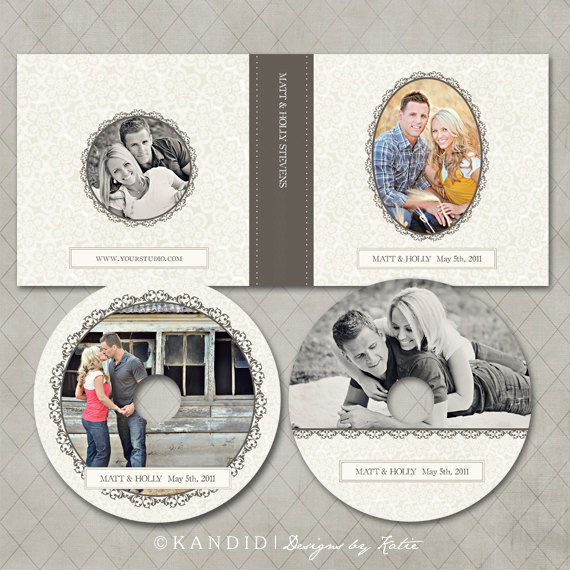 CD Case and DVD Labels Templates for WHCC and Millers Lab- Holly Collection. $10.00, via Etsy.