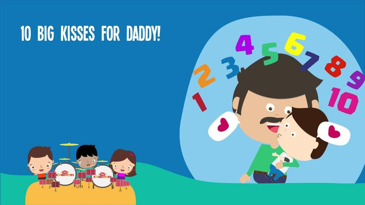 10 Big Kisses For Daddy Song Lyrics | Father's Day Songs for Children