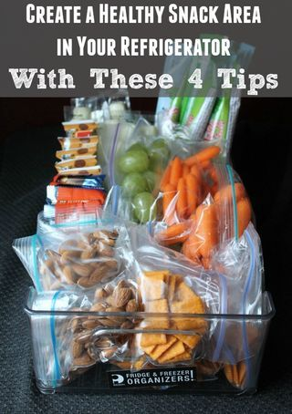 Create A Healthy Snack Area in Your Refrigerator With These 4... | Organize Yourself Skinny | Bloglovin'