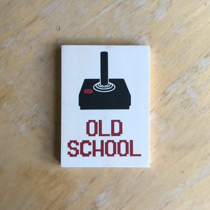 Gamer Sign - Old School - Retro Video Game Home Decor -  Video Game Art -  Geek Gamer Gift -  Retro 80s Wood Wall Hanging - Vintage Gamer by learncreateconnect on Etsy