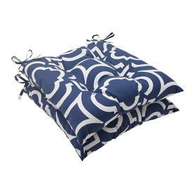 Pillow Perfect Carmody Navy Geometric Seat Pad For Universal 500799