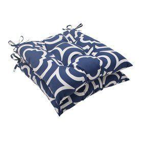 Pillow Perfect Carmody Navy Geometric Seat Pad For Universal 500799