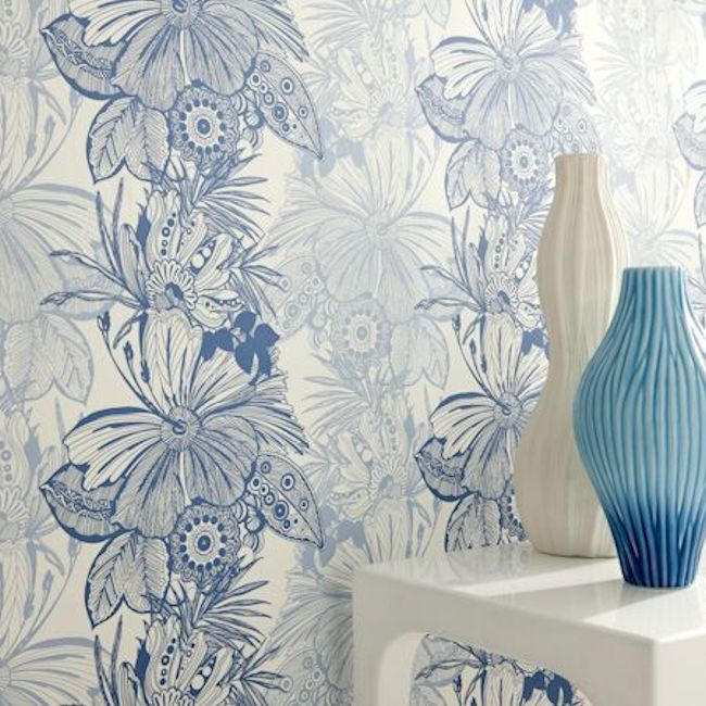 Showstoppers Collection – Hula Design by Clarke & Clarke.  Available in 7 colours.  Wallpapershop.com.au