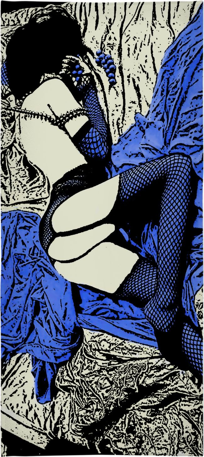 Sleeping beauty, fetish erotic beach towel, sexy submissive girl in fishnet bodystocking - for more art and design be sure to visit www.casemiroarts.com, item printed by RageOn at www.rageon.com/a/users/casemiroarts - also available at www.casemiroarts.com This product is hand made and made on-demand. Expect delivery to US in aprox. 11-20 business days (international 14-30 business days). #towels #beach #bathroom #bath