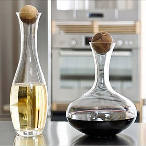 Sagaform Oval Oak Wine Carafe