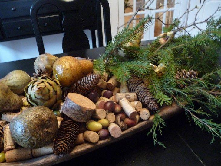 great arrangement of natural elements       via Bargain Hoots
