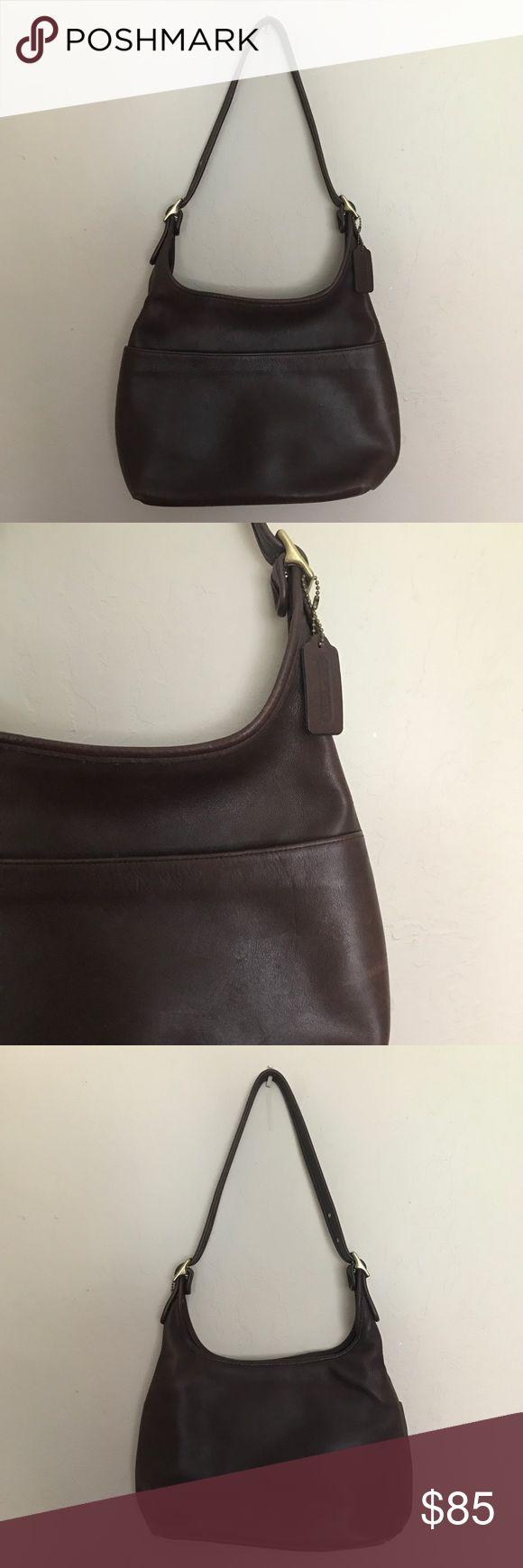 "Vintage Coach Legacy Hobo Bag Vintage Coach Legacy Hobo Shoulder Bag - Coach - Brown - 100% Leather - Serial Number 9058 - Excellent Condition - Hang Tag Included - Unlined Inside - Brass Hardware - Dimensions: 9"" H x 11"" L x 5"" D - Strap Drop: 15"" * NO TRADES Coach Bags Hobos"