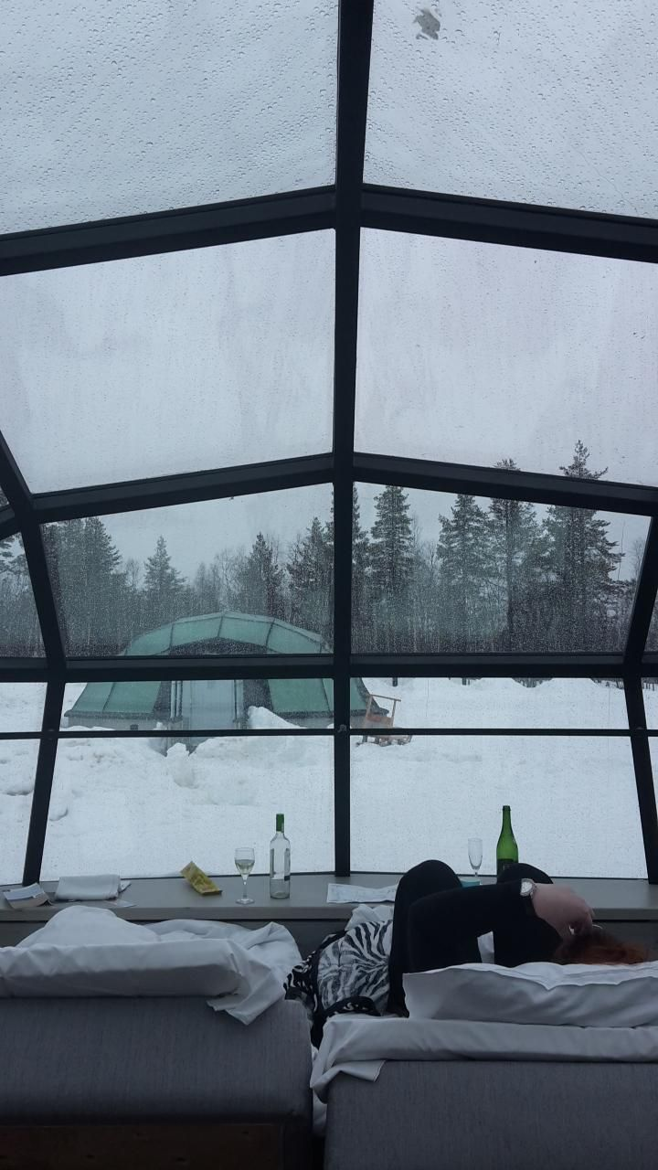 """View from our """"hotel room"""" in Finland :)"""