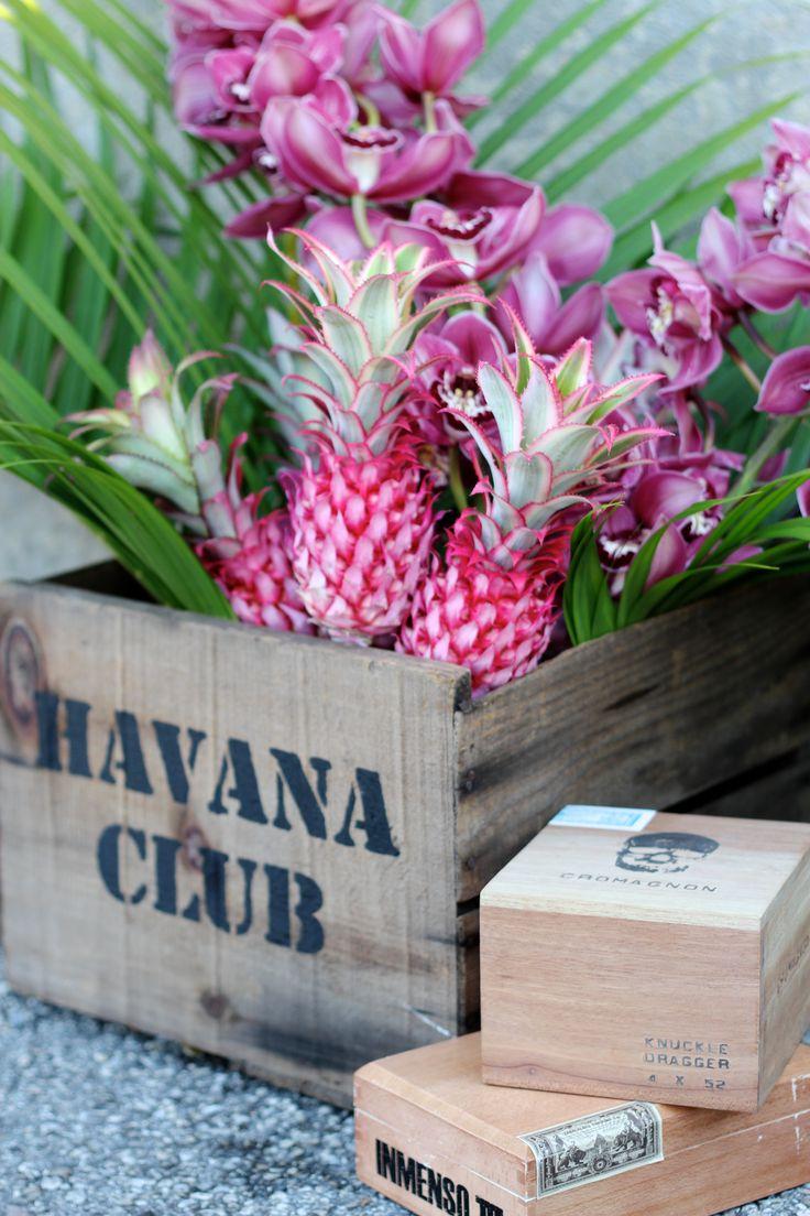 Corporate Events Austin Florist   STEMS Floral Design + Productions   Havana Nights Theme