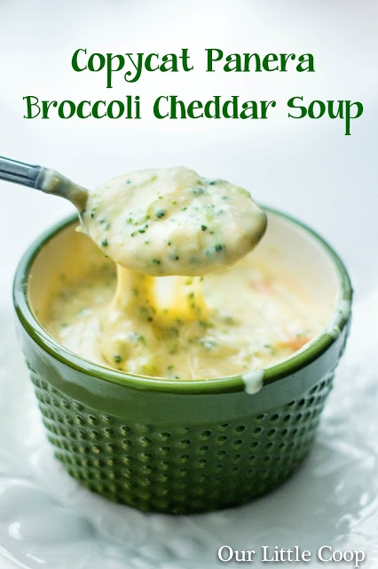 Copycat Panera Bread Broccoli & Cheddar Cheese Soup