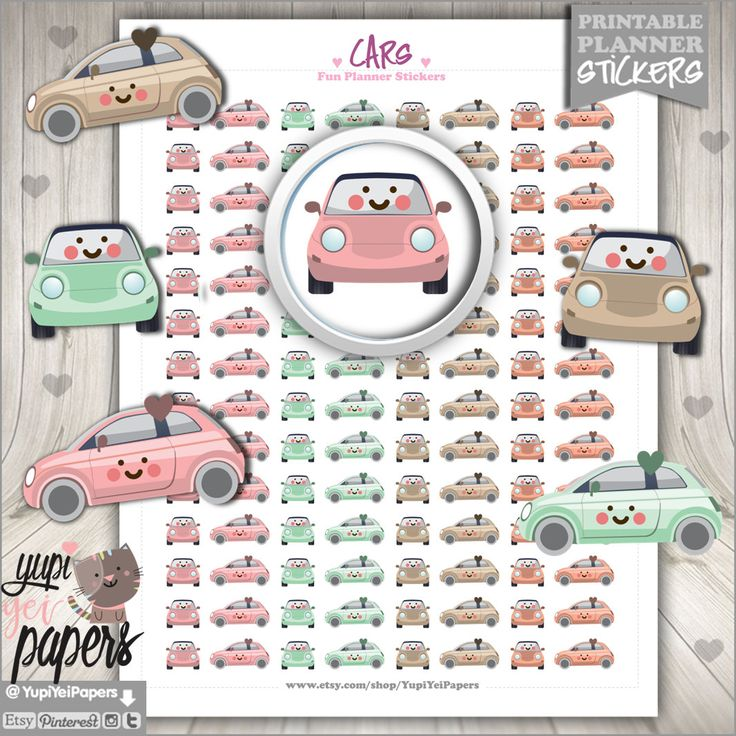 50%OFF - Car Stickers, Planner Stickers, Keep Track Stickers, Planner Accessories, Cute Stickers, Car Stamps, Use in Erin Condren