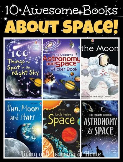 10 Awesome Books About Space for Kids (plus a GIVEAWAY!) - Wonderful science books for astronomy!