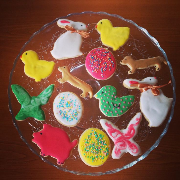 Easter cookies colorful