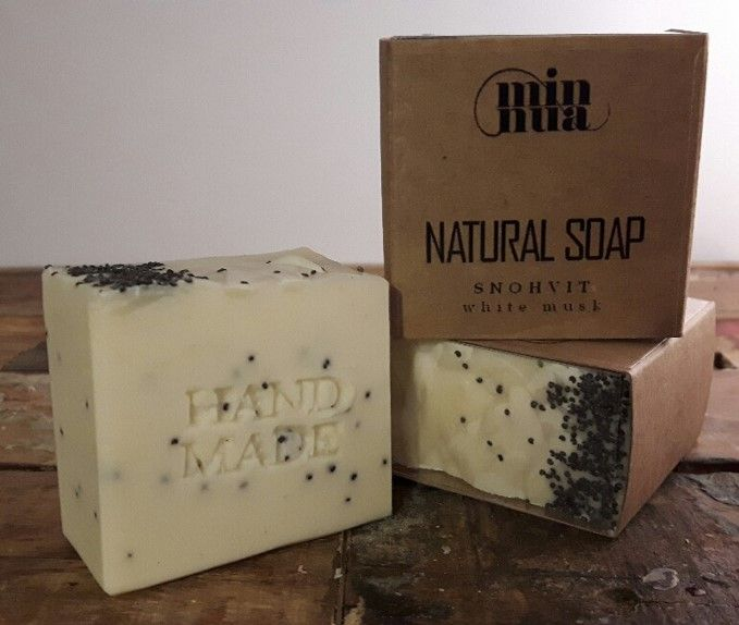 snøhvit | A fresh and relaxing white musk scent that will take you straight to the paceful snowy mountains.  Shop online https://minnua.com/collectio…/soap-bars-1/…/hvitsno-soap-bar