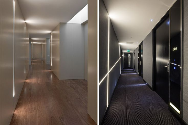 Diseño de pasillos de hotel