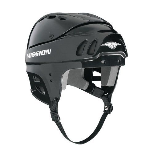 Mission Hockey M15 Senior Hockey Helmet - Black - Small by Mission. $26.98. Mission M15 Senior Hockey Helmet Gameday Protection, Customized Fit, and ComfortTwo-piece adjustable shellVinyl Nitrile Foam LinerExcellent VentilationAdjustable Chin-strapQuick Tool AdjustmentIntegrated Padded Ear PieceCSA, HECC, CE Certified