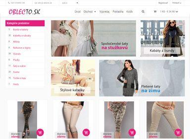 Tvorba e-shopu OblecTo.sk