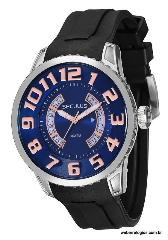 5716d89cd60 Relógio Seculus Masculino 2 anos de garantia ótima vedação 20197G0SVNU1