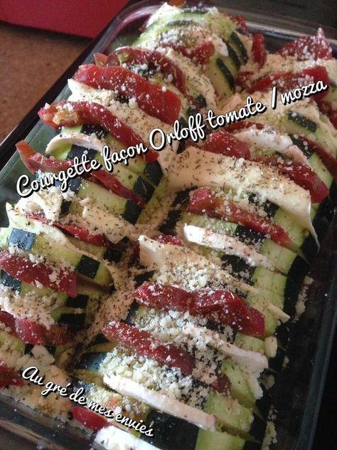 Courgette façon Orloff tomate/mozza