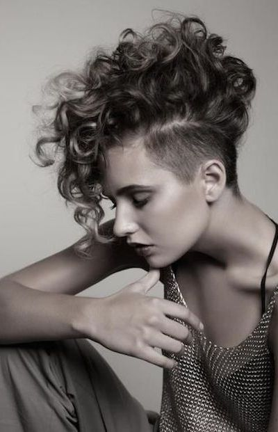 Image result for curly hair undercut alt right? woman