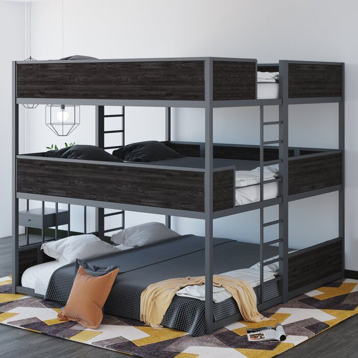 Isabelle Max Jalynn Heavy Duty Triple Bunk Bed Wayfair Bunk