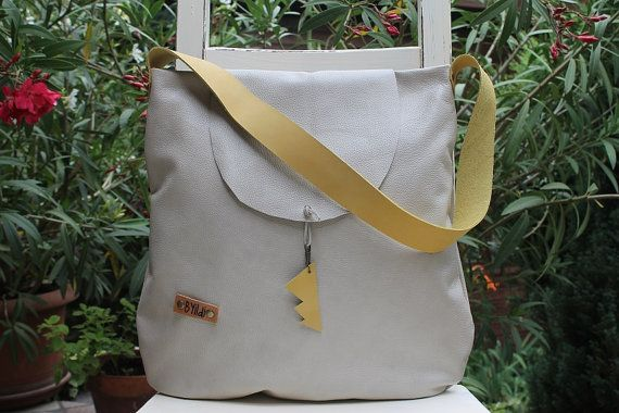 Leather bag White real  leather tote bag White womens by BYildi