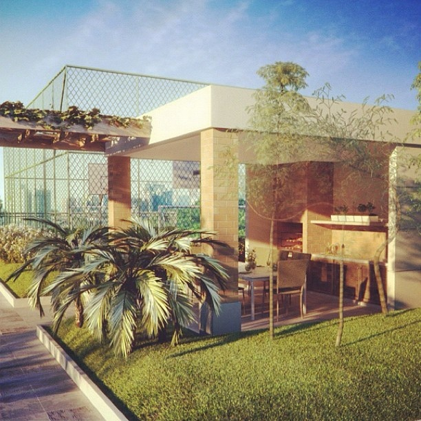 Dimension Vila Olímpia: Perspectiva da Churrasqueira e da Quadra Recreativa #lazer #perspectiva #imovel #incorporadora #obrasemandamento - @fraihaincorporadora- #webstagram
