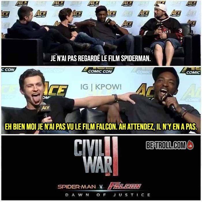 Je n'ai pas regardé le film Spiderman