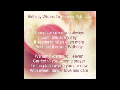Heavenly Birthday Wishes to you Mom!