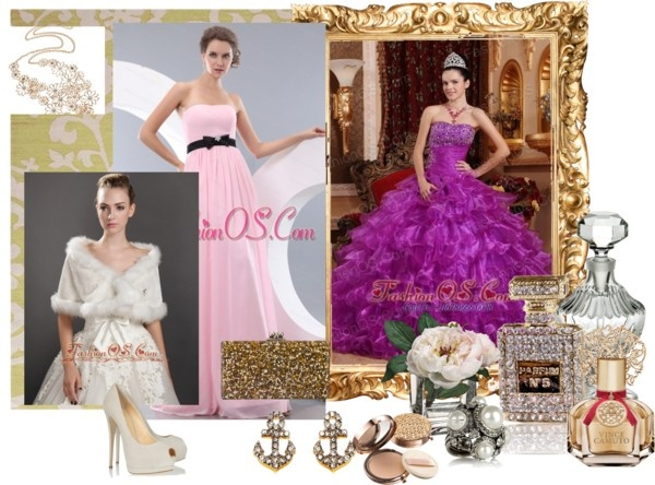 """""""http://www.fashionos.com/pretty-purple-quinceanera-dress-strapless-organza-beading-ball-gown-p1589.html"""" by quinceaneradress ❤ liked on Polyvore"""