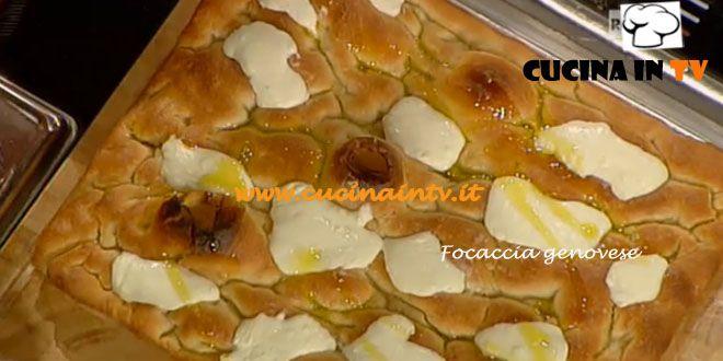 Focaccia genovese ricetta Bonci La Prova del Cuoco | Cucina in tv