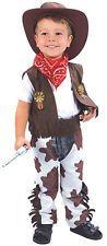 Childs/Childrens/Boys Wild West Cowboy Fancy Dress Costume Size 90-104cm 2-4yrs
