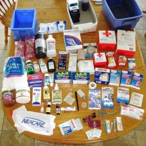 Preparedness - First Aid and Medical Supplies for Emergencies.  I really need to go through our first aid supplies and streamline it.