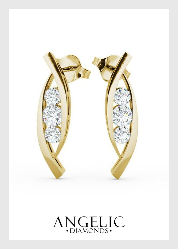 The perfect blend of modern and traditional, these diamond drop earrings are guaranteed to add a touch of sophistication to any outfit.#AngelicDiamonds#Wedding#WeddingJewellery#WeddingJewelry#WeddingEarrings#Earrings#Diamond#Diamonds#YellowGold #GoldEarrings