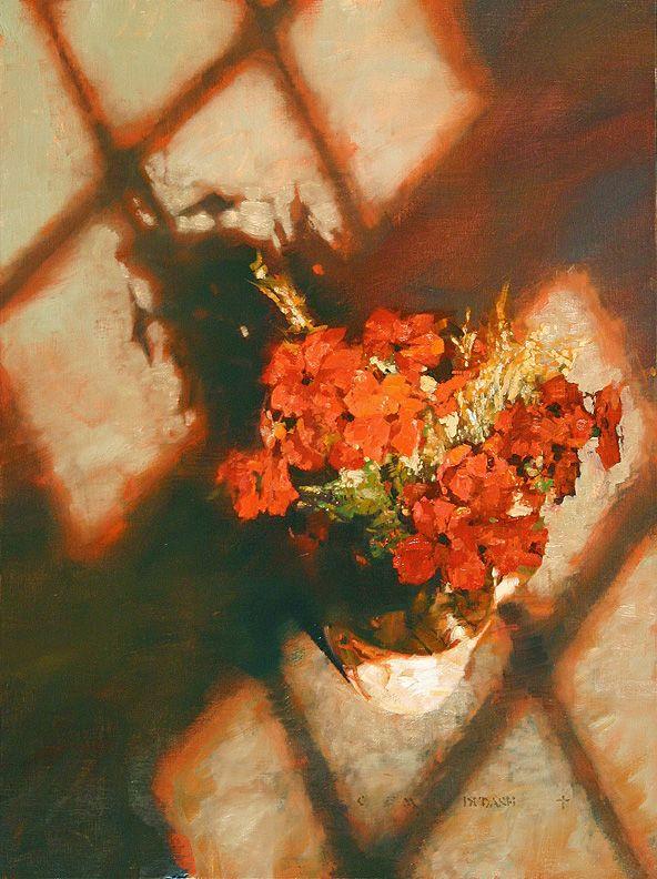 Red Daisies/レッド デイジーズ/43×33cm/ジクレ