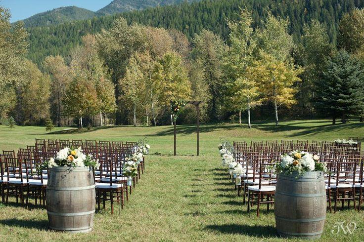 Wedding ceremony site in Fernie British Columbia captured by Tara Whittaker Photography   Fernie wedding photographer   Wedding planning by @mountain
